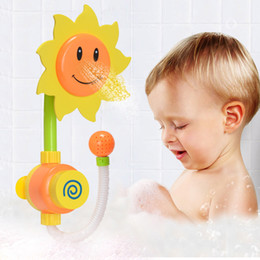2018 tub baby Bath Toys For Kids Baby Sunflower Swimming Toy Bath Water Shower Spray Bathing Tub Fountain Water Toys cheap tub baby
