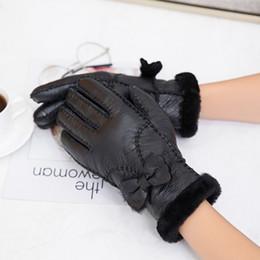 $enCountryForm.capitalKeyWord Australia - MPPM Women Warm Woolen Mittens Women Gloves Real Leather Wool Fur Gloves Lovely Girl Sheepskin Leather