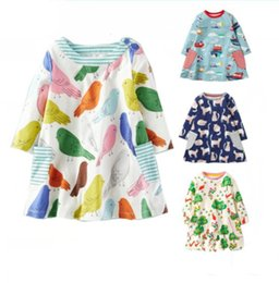 $enCountryForm.capitalKeyWord Canada - Fashion baby girls kids spring summer dress kids long short sleeve flower tops T-shirt dress baby girls long sweaters shirt