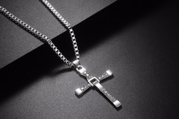 cross chain fast furious NZ - New Male Necklaces & Pendants Fashion Movie jewelry The Fast and The Furious Toretto Men Classic CROSS Pendant Necklace