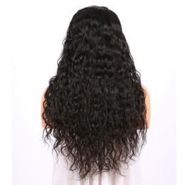 $enCountryForm.capitalKeyWord UK - Brazilian hair Lace Front wigs deep loose Water Wave Full Lace Human Hair Wigs Pre Plucked Natural Hairline code four