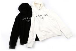 Venta al por mayor de KERING letras impresas sudaderas moda hombres mujeres pareja sudaderas de calidad superior Hip Hop BLCG sudaderas con capucha