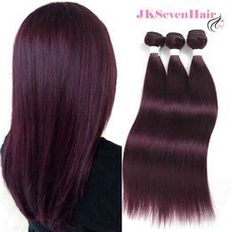 $enCountryForm.capitalKeyWord Australia - Straight Burgundy Ombre Brazilian Virgin Hair Extensions 3 Bundles Burgundy Red Malaysian Peruvian Indian 100% Human Hair Weaves
