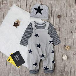 $enCountryForm.capitalKeyWord Australia - 2018 boys suit star strap trousers long sleeved T-shirt hat children spring and autumn children's suit