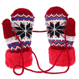 9f91cd8f78158 Knitted Gloves For Kids UK - Baby Casual Autumn Winter Warm Gloves Unisex Children  Knitted Elastic