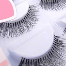 False Eyelash Boxes Canada - 20 Boxes Wholesale Black Natural Long Sparse Cross Eye Lashes Extension Makeup False Eyelashes NT-001