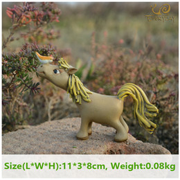 animals ceramics 2019 - arden ornaments fairies Everyday Collection pony horse figure home Decoration cute simulation model animal miniature Fai