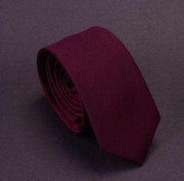 Solid Navy Blue Ties NZ - Men Solid Navy Blue Classic Ties for Bridegroom Green Color 6cm Slim Neck Ties for Wedding Tie Skinny Groom Tie for Men