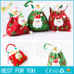 new hot fashion merry christmas santa sack gift presents bag christmas tree candy bags wine stocking bottle gift bag xmas decoration