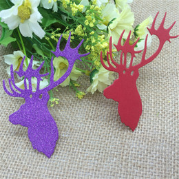 free xmas cards NZ - Merry Christmas Xmas Elk Metal Cutting Dies Stencil Scrapbooking Embossing Card Album Craft DIY free shipping