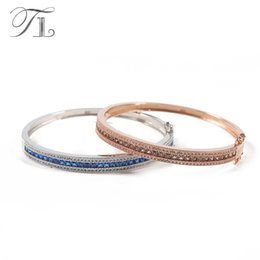 Noble Jewelry Sterling Silver Bracelets Australia - TL 925 Sterling-Silver-Jewelry Thin Bangles Best Bracelets For Women Love Gifts Austria Zircon Bangles Noble Silver 925 Jewelry