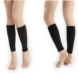 thigh leg warmer 2019 - 420D Women Burn Fat Socks Compression Stovepipe Leg Thigh Shaper Warmer Black color Shaper Weight Loss Calorie Off Fat b