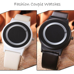 $enCountryForm.capitalKeyWord Canada - Candy Color Couples Watch PU Leather Strap Quartz Wrist Watches For Unisex Women Men Gift Couple Wrist Watches
