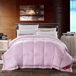 Venta al por mayor de Estilos coreanos 95% Goose Down Pink Comforter Soft Warm Queen King Size alta calidad Edredón / edredón hipoalergénico Dormitorio Otoño Invierno Primavera