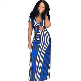 c1b83674eba Plus Size Striped Dress 2018 New Summer Vestido Sundress Short Sleeve Robe  Party Dresses Club Women Sexy Long Maxi Dres
