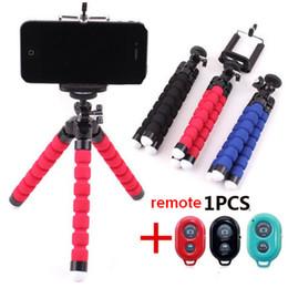 Универсальный Беспроводной Bluetooth Штатив Камеры Selfie Stick Стенд Гибкий Осьминог Телефон Штатив Кронштейн Держатель Телефона Дистанционного Затвора