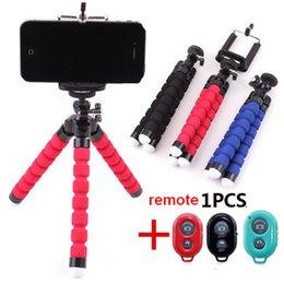 Universal Sem Fio Bluetooth Tripé Câmera Selfie Suporte Da Vara Polvo Flexível Telefone Tripé Suporte De Montagem Suporte Do Telefone Obturador Remoto