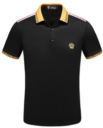 China new-t Italy designer polo shirt t shirts Luxury Brand snake bee floral embroidery mens polos High street fashion stripe print polo T-shirt cheap mens patchwork plaid shirts suppliers