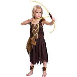 Historical dress online shopping - Girls Viking Costume Kids Warrior Fancy Dress Outfit Book Week Historical