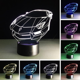 $enCountryForm.capitalKeyWord Canada - Racing Car Luminarias USB 7 Color Changing LED 3D Atmosphere Lamp Gradient Visual Nightlight Illusion Child Bedroom Decor Festival Xmas Gift