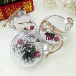 Clear Balls Australia - 5 Pcs lot Christmas Tree Hanging Decorations Ball Transparent Plastic Clear Ball Ornaments Kids Favors Christmas Party Supplies