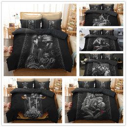 king size skull bedding 2018 - 3D Skull knights Bedding Set Digital printing Duvet Cover Set Pillowcases Twin Full Queen Super king Size Customizable d