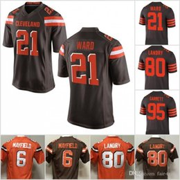 27e099308 Cleveland Browns 6 Baker Mayfield 21 Denzel Ward Jersey 80 Jarvis Landry 95  Myles Garrett 73 Thomas 5 Tyrod Taylor 22 Jabrill Peppers Chubb