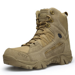 army combat boots men 2018 - New Winter Fashion Military Boots Men Comfortable Ankle Boots Men Work Shoes Army Desert Combat Boots Men Snow Footwear