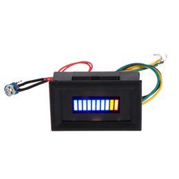 12V Unversal Motorcycle Car Oil scale meter LED Oil Fuel level Gauge Indicator on Sale