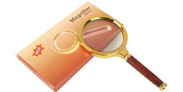 NEW 10x 80mm Handheld Magnifier Newspaper Magnifying Glass Read Magnifier Reading Magnifying Glass Jewelry Loupes With Retail Package zzh on Sale