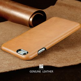 Design Genuine Leather NZ - 2017 New Design Back Cover Case For Apple Iphone 7 7 Plus Genuine Leather Case For Iphone 6 6 Plus All Wrapped Leather Case