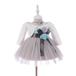 badfc3c32 Nuevo vestido de princesa de verano infantil vestido de encaje de bebé con  bolero y diadema ropa de bebé recién nacido niña ropa chica