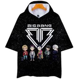 t shirt bigbang 2019 - Fashion Harajuku Shirts Print 3D BTS Bigbang BB Kpop Tshirt Casual Short Sleeve Hooded T Shirt Hip Hop Streetwear Cotton