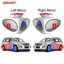 adjustable car blind spot mirror NZ - Wholesale High Quality Universal Left And Right Car Blind Spot Wide Angle Mirror 360 Rotation Adjustable Convex Rear View For Car