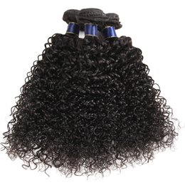 $enCountryForm.capitalKeyWord NZ - Jerry Curly Unprocessed Non Remy Human Hair Weaves 3 4 Hair Bundles Cheap Grade 6A Hair Extension Double Wefts