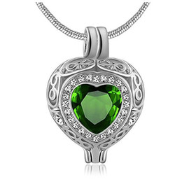 gift eternal love UK - Fashion jewelry Eternal Womens&Mens Hollow Heart Birthstone Cremation Ashes Urn Pendant Necklace stainless steel Keepsake Jewelry