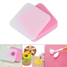Fondant Paste Foam UK - 2pcs Fondant Flower Shapes Mat Shaping Foam Pad Sponge Gum Paste Baking Decorating Mat For Flower Making Tools