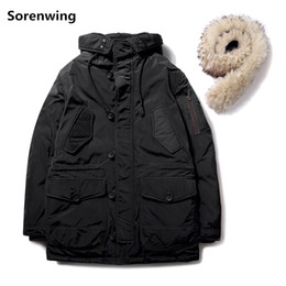 $enCountryForm.capitalKeyWord NZ - Winter Fur Parka Men Casual Hooded Warm Jackets Slim Thick Outwear Cotton-padded Winter Jacket for Men Brand Clothing Coat 221