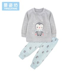 2e040736 2018 Top Fashion Cartoon Penguin Baby Clothing Set Cute Children Costume  Kids Sport Suit Long Sleeve Toddler T-shirt + Trousers