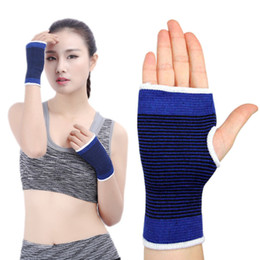 Hand wrap gloves online shopping - Free DHL Elastic Wrist Glove Palm Hand Support Sport Arthritis Brace Sleeve Bandage Wrap For Volleyball Basketball Outdoor Sports G911Q