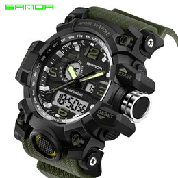 $enCountryForm.capitalKeyWord NZ - Top Brand SANDA Military G Style Shock Men Watch Digital New Electronic Sport Watch Waterproof Male Clock LED Relogio Masculino Y1892507