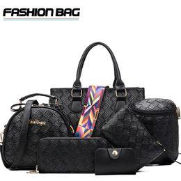 luxury clutch handbags 2019 - 6 pcs Composite Set Bags Women Handbag Top Brand Luxury Lady Shopping Shoulder Bag Clutch Purse Bag cheap luxury clutch