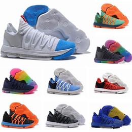 6817ea1880cf New Zoom KD 10 Anniversary PE BHM Oreo triple black rainbow mens Basketball  Shoes KD 10s X Elite Low Kevin Durant Athletic Sport Sneakers