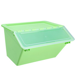 $enCountryForm.capitalKeyWord UK - Large-size Plastic Clamshell Storage Box Front-open Style Oblique Mouth Children Storage Box and Side-open Storage Basket