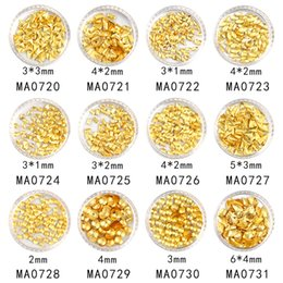 diy nail studs Canada - 3d studs 100Pcs bottle Gold Plated 3D Stud Frosted Rivets Japanese Style Art Sticker Jewelry Nail Tip Decoration DIY Tool