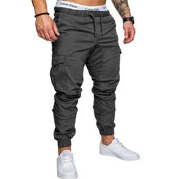 Vente en gros 2018 Marque Pantalons Pour Hommes Pantalons Hip Hop Cargo Hommes Coureurs Pantalons Pantalons Pour Les Hommes Pantalon De Jogging Multi-poches Élastique À La Taille Pantalon 4XL