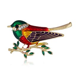 $enCountryForm.capitalKeyWord UK - Enamel Swallow Birds Animals Brooch Pins Unisex Corsage Brooches Fashion Jewelry Accessory For Women Men Lovers Clothes Decorate