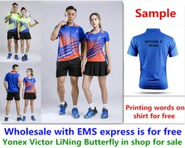 $enCountryForm.capitalKeyWord NZ - Wholesale EMS for free, Text printing for free, new badminton shirt clothes table tennis T sport shirt clothes A45