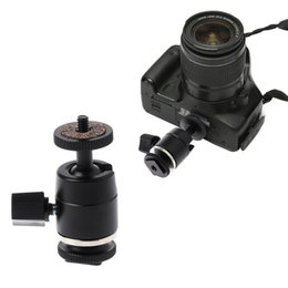 tripod stand for dslr 2019 - OOTDTY Camera Tripod Mini Ball Head 1 4 Screw Mount for DSLR Camera Tripod Light Stands Flash Bracket Dropshipping cheap
