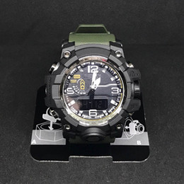 Wholesale 2018 Mens Military G Style Watches LED Analog Dual Display Quartz Wristwatches Ourdoor Sport Mens Male Watches Clock Hours relogio masculino